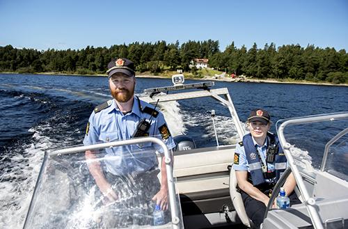 Un policier norvégien se verbalise