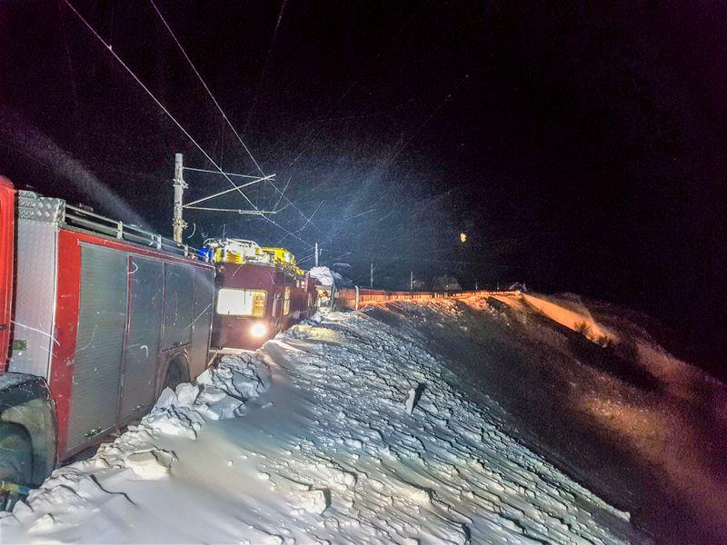 Une avalanche bloque la ligne ferroviaire Oslo Bergen