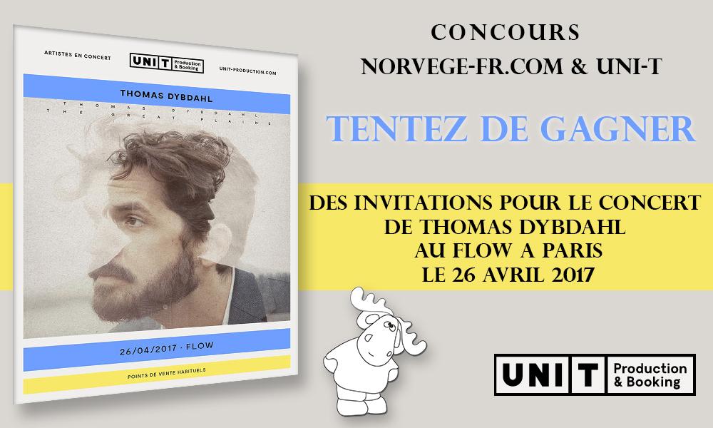 [CONCOURS] Tentez de gagner des invitations pour le concert de Thomas Dybdahl au Flow à Paris