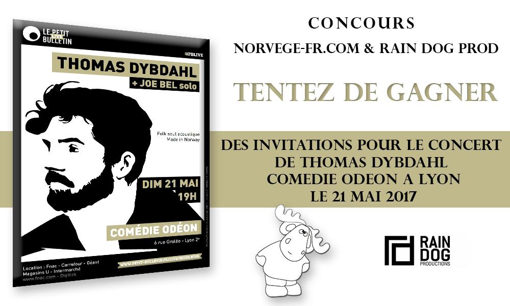 [CONCOURS] Tentez de gagner des invitations pour le concert de Thomas Dybdahl à la Comédie Odéon à Lyon