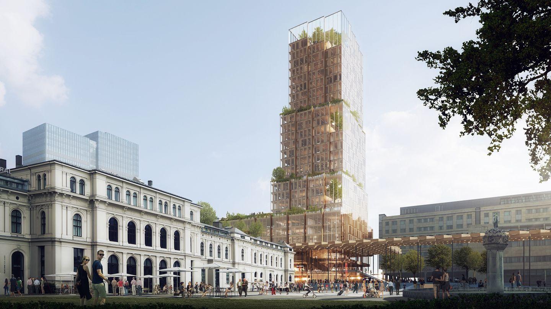 Un nouveau projet architectural autour de la gare d'Oslo