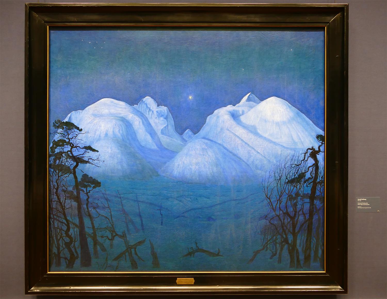 Exposition Harald Sohlberg avant la fermeture de la Galerie Nationale d'Oslo