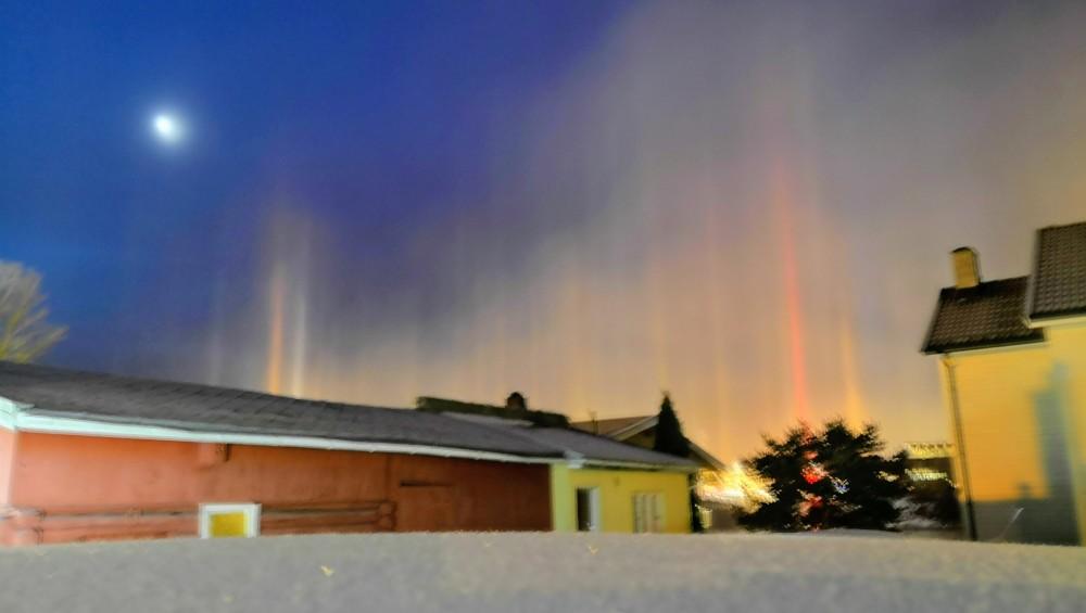 Des piliers solaires observés mercredi en Norvège