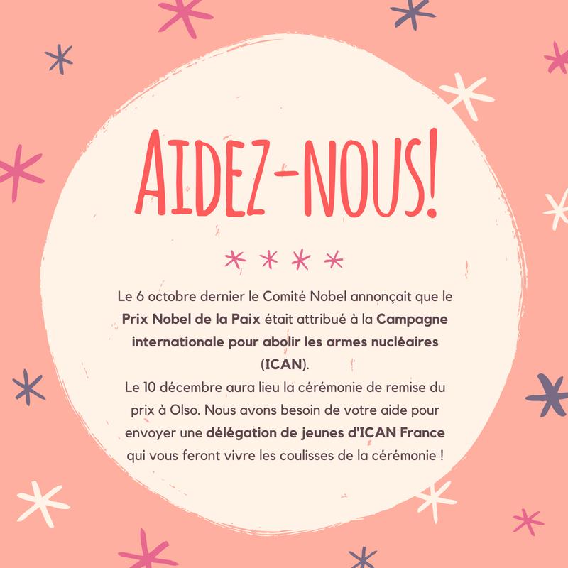 Aidez une délégation de jeunes d'ICAN France à participer à la remise du Prix Nobel de la Paix à Oslo