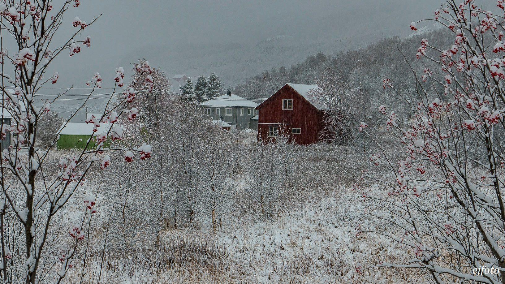 Une partie de la Norvège a revêtu son manteau neigeux ce week-end