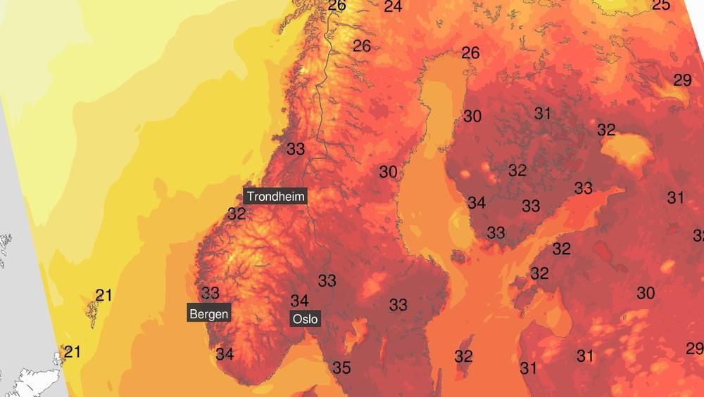 La chaleur en Norvège relance le débat sur le réchauffement climatique