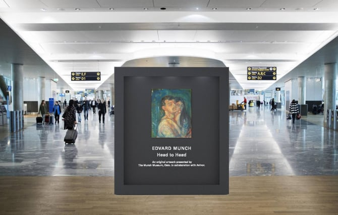 Munch s'expose à l'aéroport d'Oslo