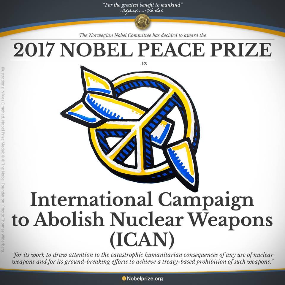 Le Prix Nobel de la paix a été attribué à la campagne antinucléaire ICAN