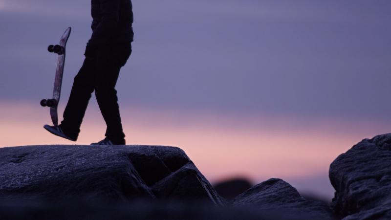 Du skate sur les plages norvégiennes