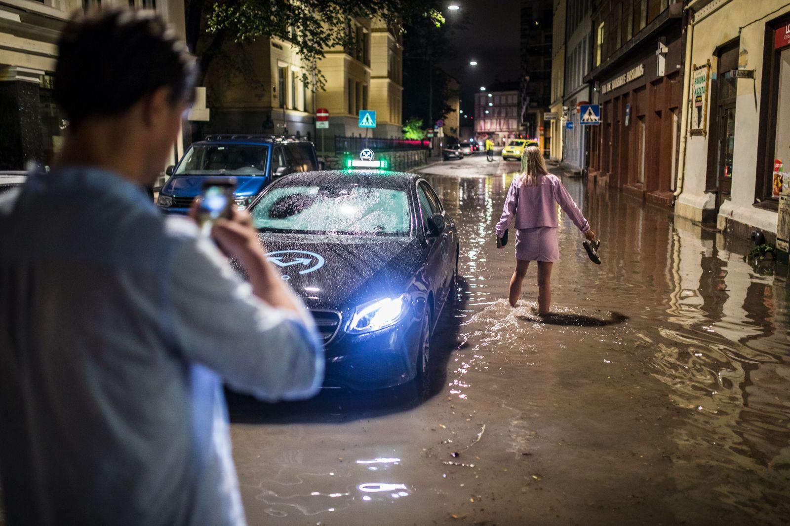 Un violent orage à Oslo provoque des inondations