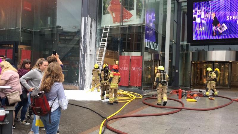 Incendie au centre commercial Oslo City