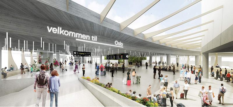 Le terminal des bus d'Oslo va être entièrement rénové