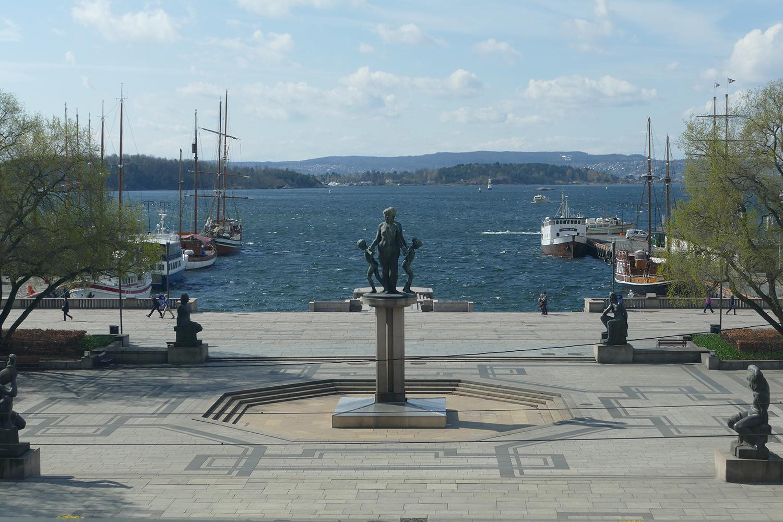 Une orque dans le fjord d'Oslo