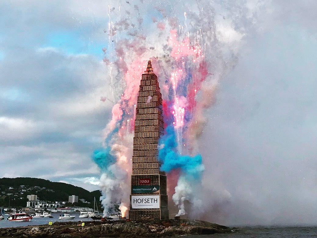Le slinningsbålet, le plus grand feu de joie du monde est en Norvège