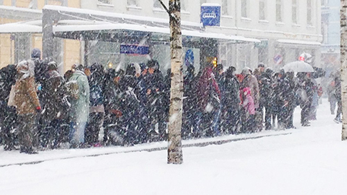 La neige arrive ce week-end en Norvège