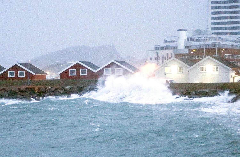 La tempête fait rage dans le nord de la Norvège