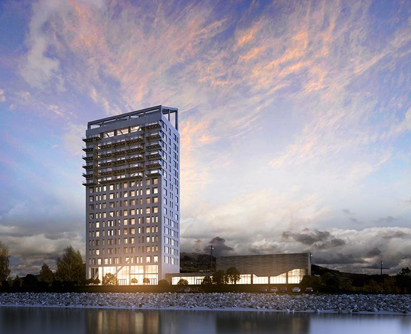 Mjøstårnet : la tour en bois la plus haute du monde