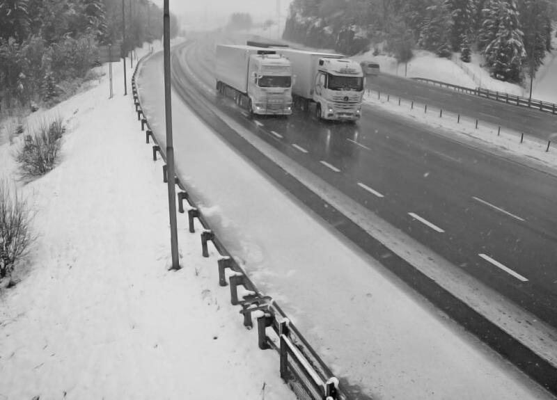 La neige de retour dans le Sud-Est de la Norvège