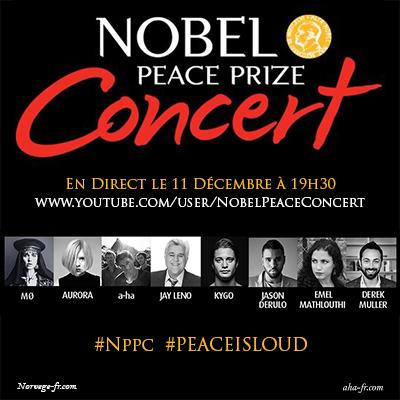 A-ha au Concert du Prix Nobel de la Paix ce soir
