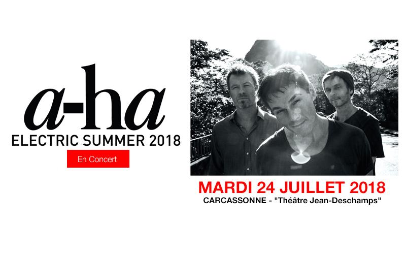 Concert exceptionnel de a-ha à Carcassonne le 24 Juillet 2018